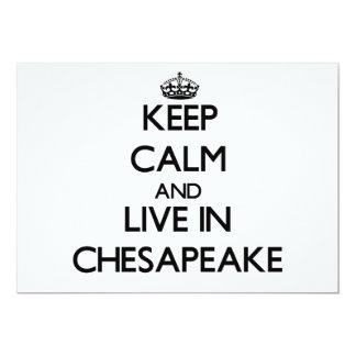 Guarde la calma y viva en Chesapeake Comunicado