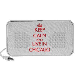 Guarde la calma y viva en Chicago iPhone Altavoces