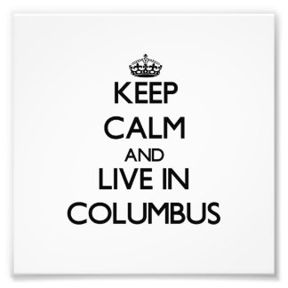 Guarde la calma y viva en Columbus