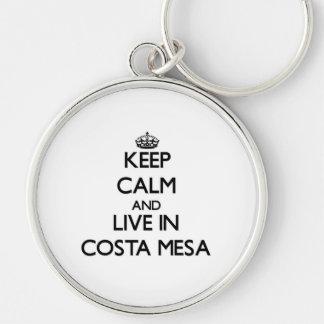 Guarde la calma y viva en Costa Mesa Llavero Personalizado