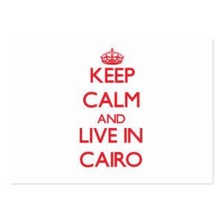 Guarde la calma y viva en El Cairo Tarjeta De Visita