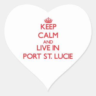Guarde la calma y viva en el puerto Sta. Lucía