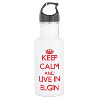 Guarde la calma y viva en Elgin