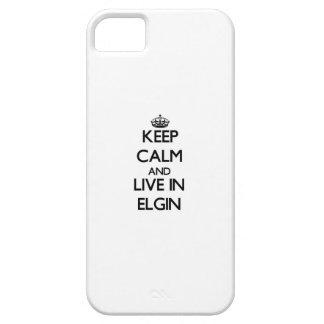 Guarde la calma y viva en Elgin iPhone 5 Carcasa