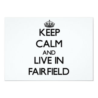 Guarde la calma y viva en Fairfield Invitación 12,7 X 17,8 Cm