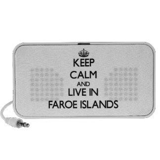Guarde la calma y viva en Faroe Island iPod Altavoces