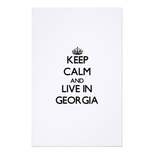 Guarde la calma y viva en Georgia Papeleria De Diseño