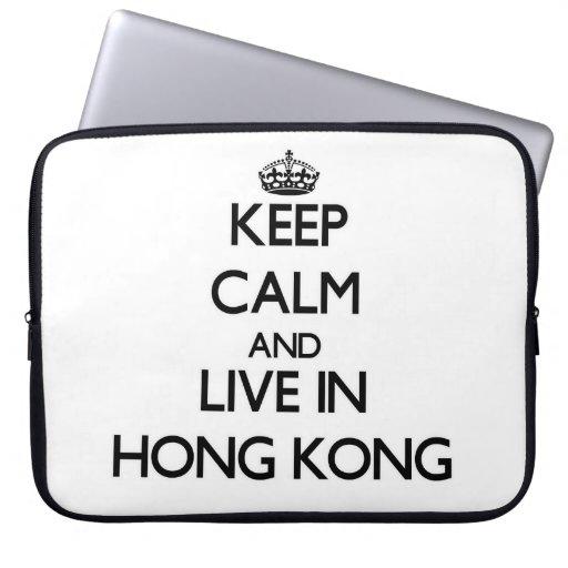 Guarde la calma y viva en Hong Kong Fundas Ordendadores