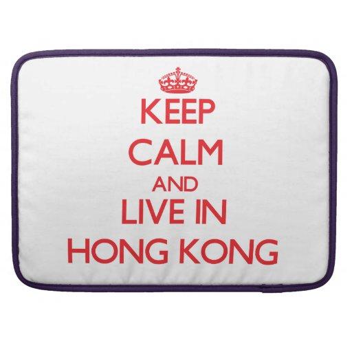 Guarde la calma y viva en Hong Kong Funda Para Macbook Pro