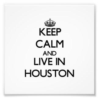 Guarde la calma y viva en Houston Fotografías