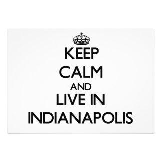 Guarde la calma y viva en Indianapolis Comunicado Personal