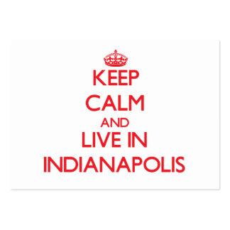 Guarde la calma y viva en Indianapolis Tarjetas Personales