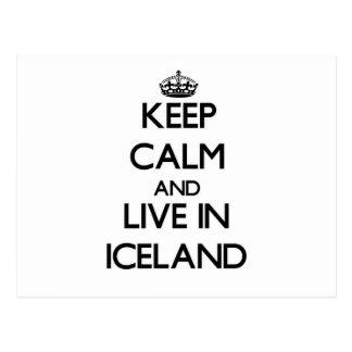 Guarde la calma y viva en Islandia Postal