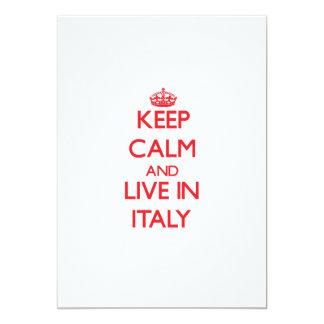 Guarde la calma y viva en Italia Invitacion Personal