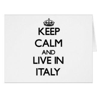 Guarde la calma y viva en Italia Felicitacion