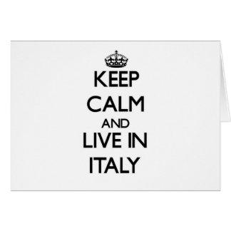 Guarde la calma y viva en Italia Felicitaciones
