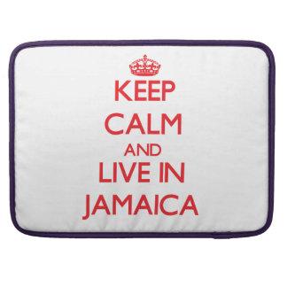 Guarde la calma y viva en Jamaica Funda Macbook Pro