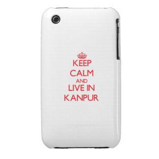 Guarde la calma y viva en Kanpur iPhone 3 Cárcasa
