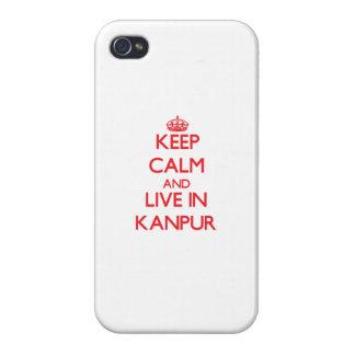 Guarde la calma y viva en Kanpur iPhone 4 Carcasas