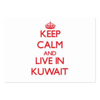 Guarde la calma y viva en Kuwait Tarjetas De Visita Grandes