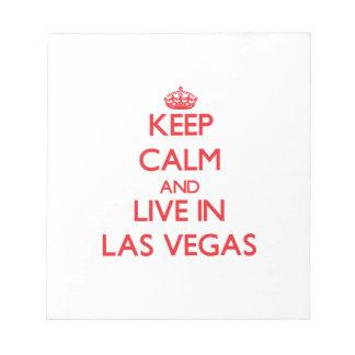 Guarde la calma y viva en Las Vegas Bloc De Notas
