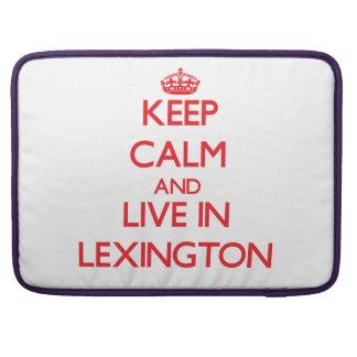 Guarde la calma y viva en Lexington Funda Para Macbook Pro