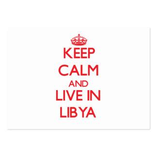 Guarde la calma y viva en Libia Tarjetas De Visita Grandes