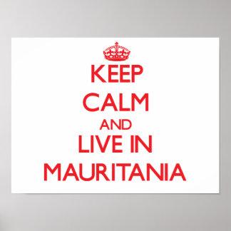 Guarde la calma y viva en Mauritania Poster