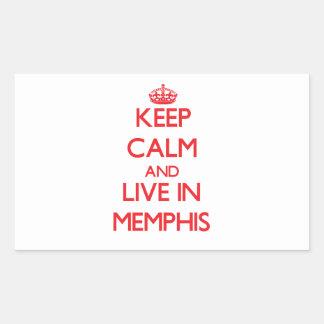 Guarde la calma y viva en Memphis Rectangular Altavoz