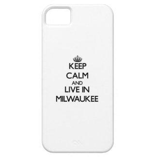 Guarde la calma y viva en Milwaukee iPhone 5 Carcasa