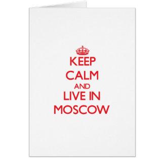 Guarde la calma y viva en Moscú Tarjetas