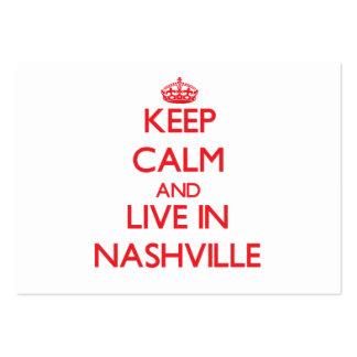 Guarde la calma y viva en Nashville Tarjetas De Visita Grandes