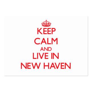 Guarde la calma y viva en New Haven Tarjeta De Negocio