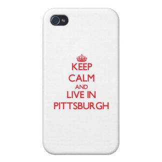 Guarde la calma y viva en Pittsburgh iPhone 4 Cobertura
