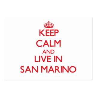 Guarde la calma y viva en San Marino Tarjetas De Visita