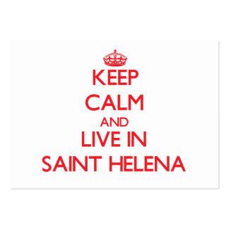 Guarde la calma y viva en Santa Helena Plantilla De Tarjeta De Negocio
