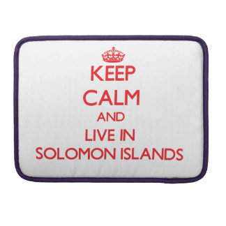Guarde la calma y viva en Solomon Island Fundas Macbook Pro