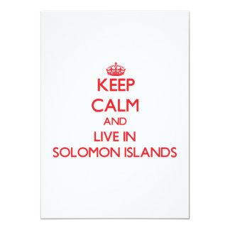 Guarde la calma y viva en Solomon Island Invitación Personalizada