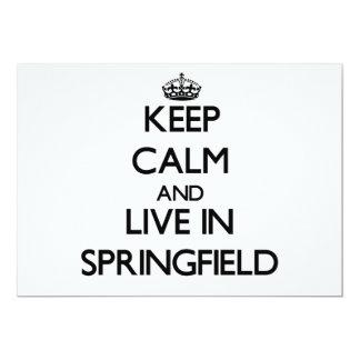 Guarde la calma y viva en Springfield Invitacion Personal