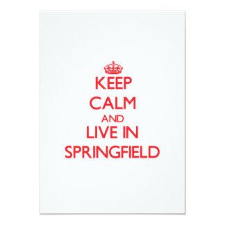Guarde la calma y viva en Springfield Invitación Personalizada