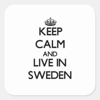 Guarde la calma y viva en Suecia Etiquetas