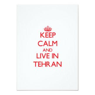 Guarde la calma y viva en Teherán Invitación Personalizada