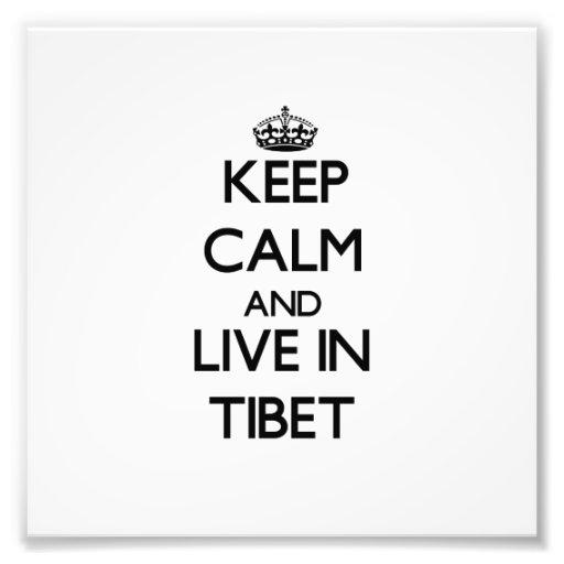 Guarde la calma y viva en Tíbet Fotos