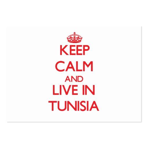 Guarde la calma y viva en Túnez Tarjeta De Visita