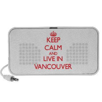 Guarde la calma y viva en Vancouver Altavoz De Viaje