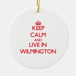 Guarde la calma y viva en Wilmington Adornos