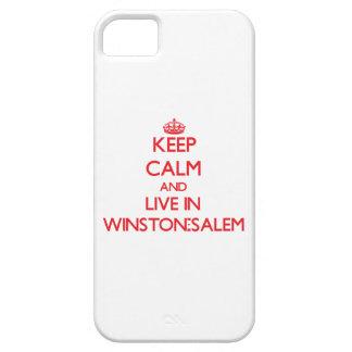 Guarde la calma y viva en Winston-Salem iPhone 5 Case-Mate Cobertura