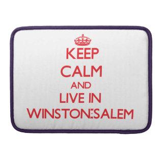 Guarde la calma y viva en Winston-Salem Funda Para Macbooks