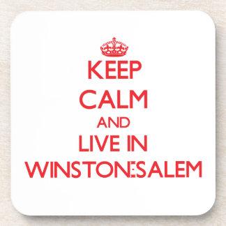 Guarde la calma y viva en Winston-Salem Posavasos