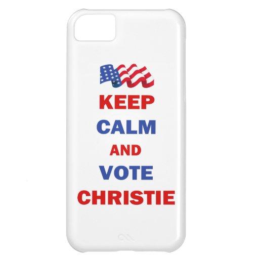 Guarde la calma y vote a Christie Funda Para iPhone 5C